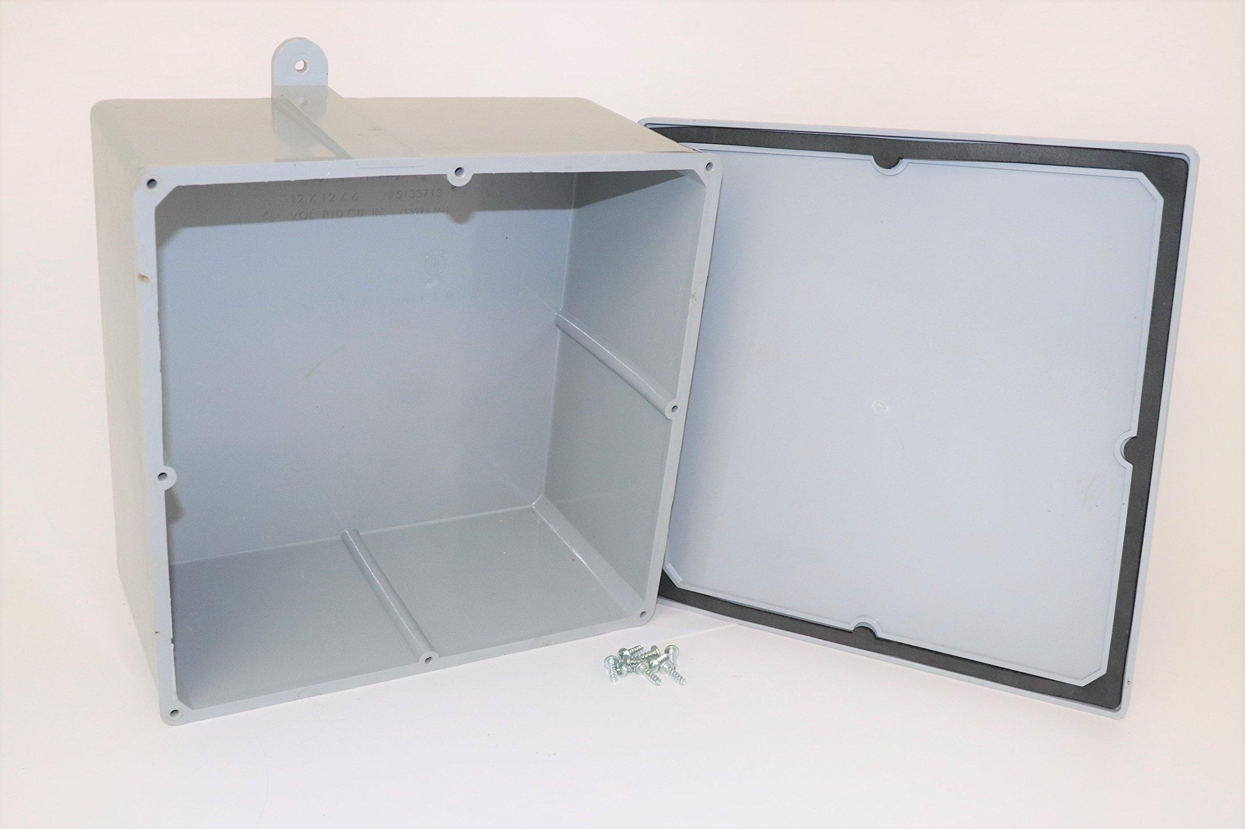 CANTEX Electrical Box PVC 13x13x6-1/4 in.