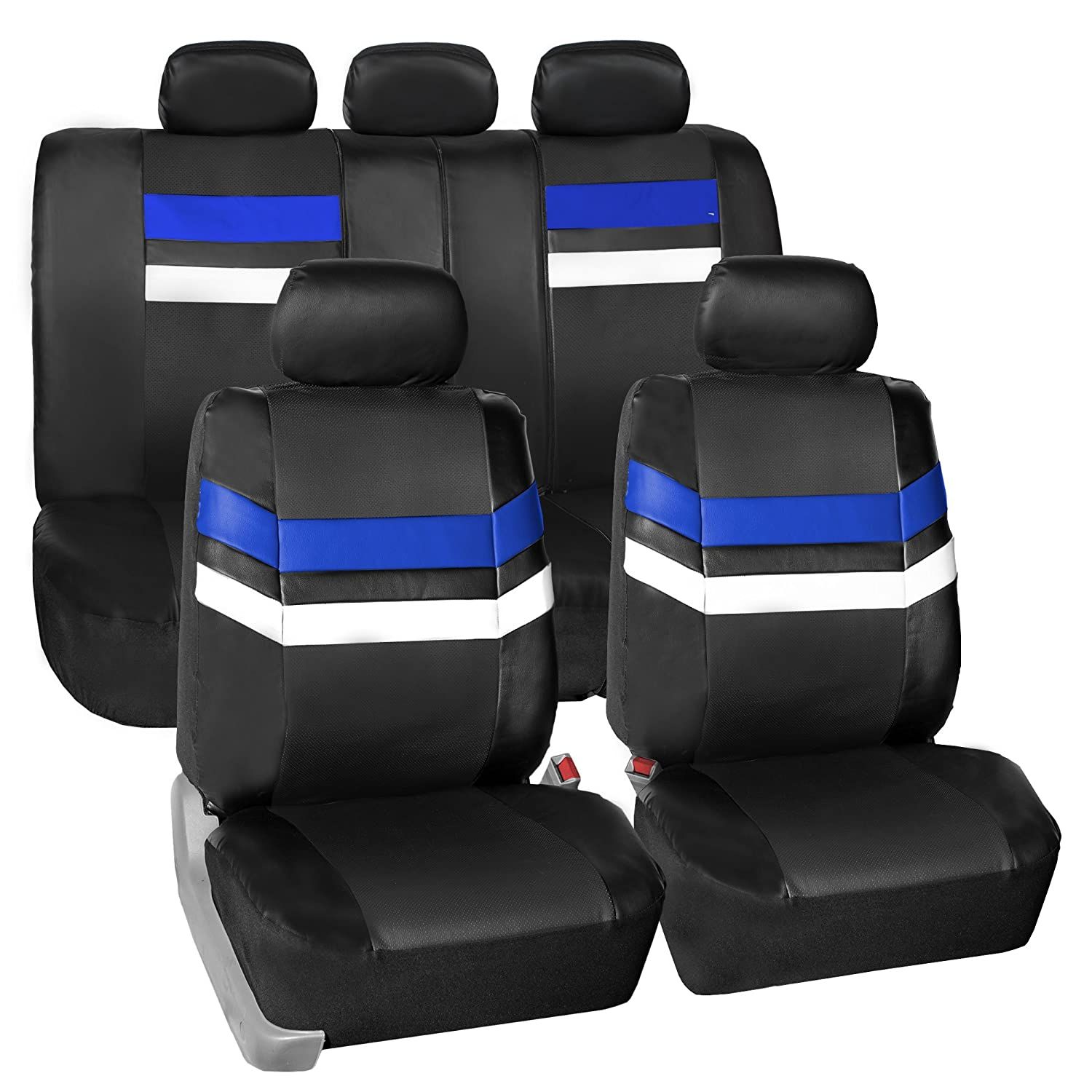FH Group Leather Full Set Seat Covers Mint Airbag Safe PU006MINT115 /& Split Bench Ready