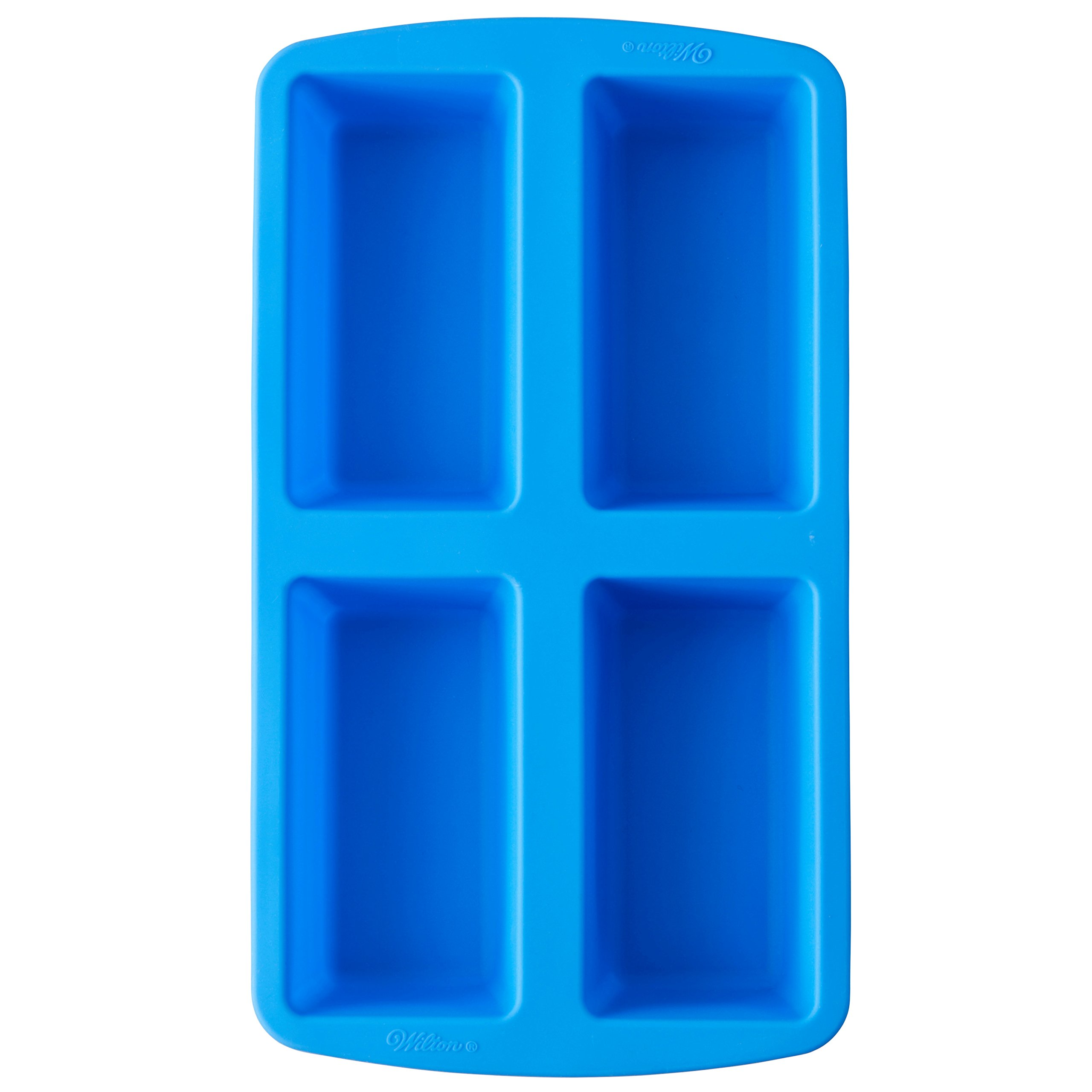 Wilton Easy-Flex Silicone Mini Loaf Pan for Bread, Cakes and Meatloaf, 4-Cavity by Wilton