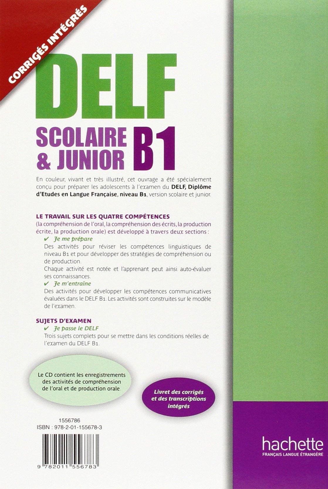 Delf Scolaire Et Junior B1 Livre de LEleve + CD Audio (English and French Edition): Caroline Veltcheff, Veltcheff: 9782011556783: Amazon.com: Books