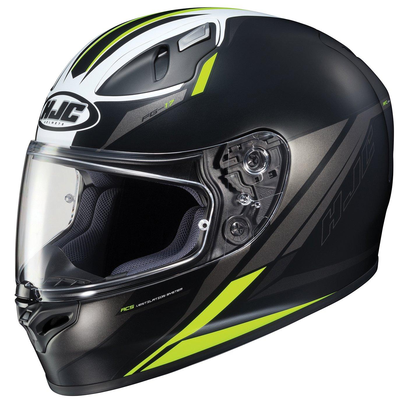 HJC Helmets Unisex-Adult Full-Face-Helmet-Style FG-17 Valve Helmet 638-731 MC-3HSF Black//Hi-Vis, X-Small