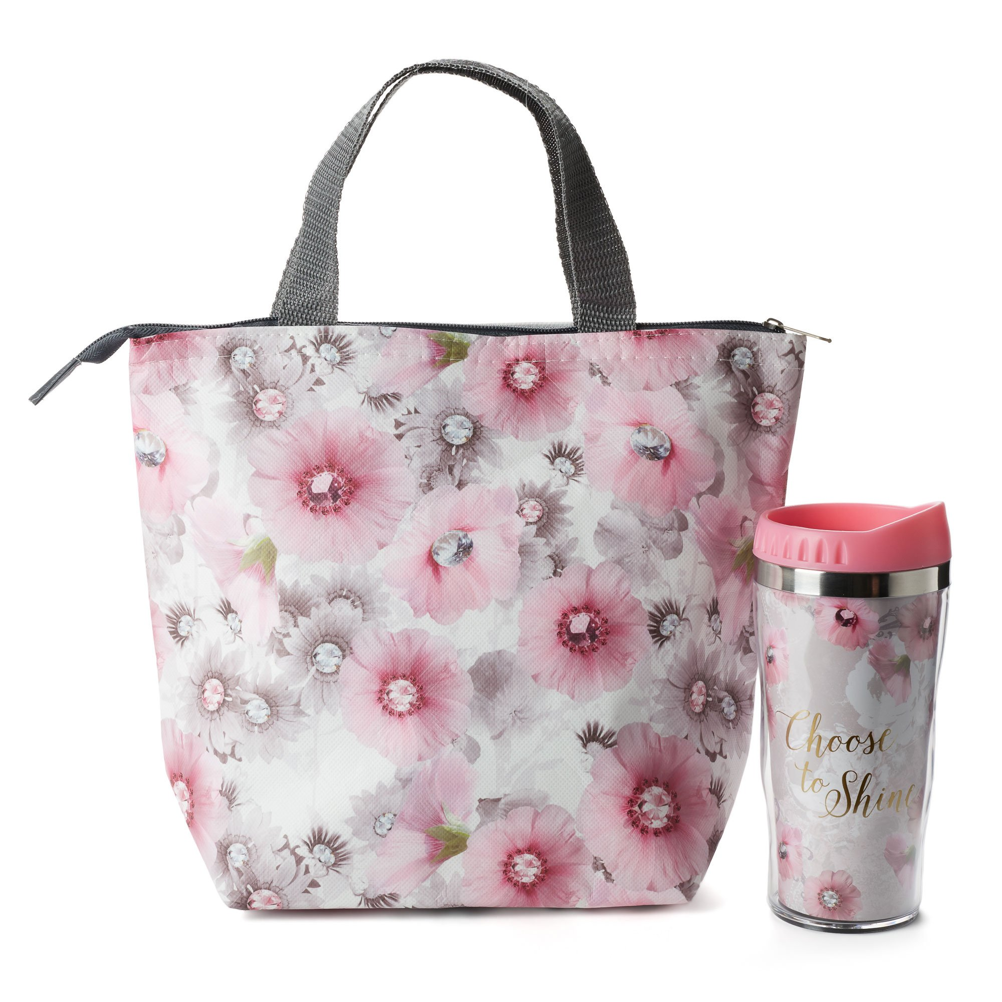Insulated Lunch Tote and Water Bottle Sets (Eufloria Tote)