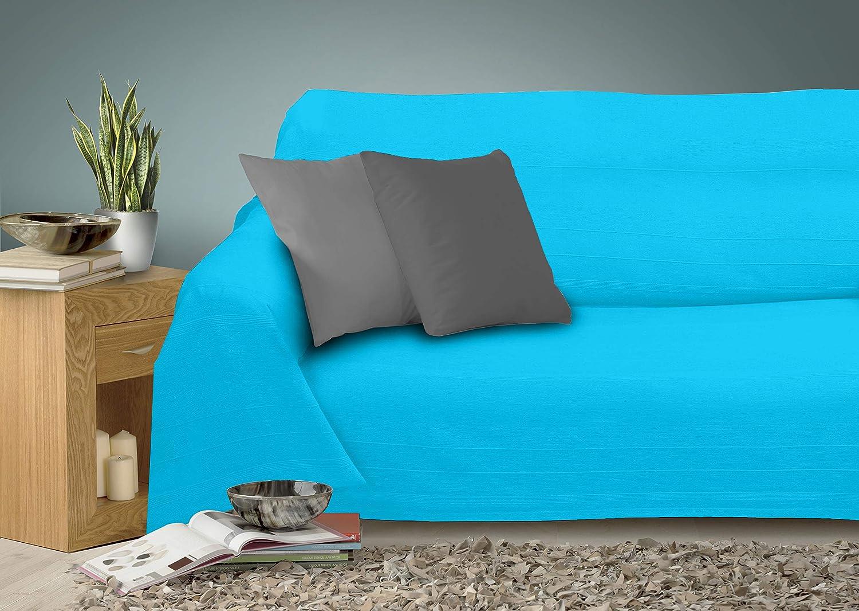 Miracle Home Caiman Couvre-lit multifonction 100 /% coton Gris 170 x 260 cm