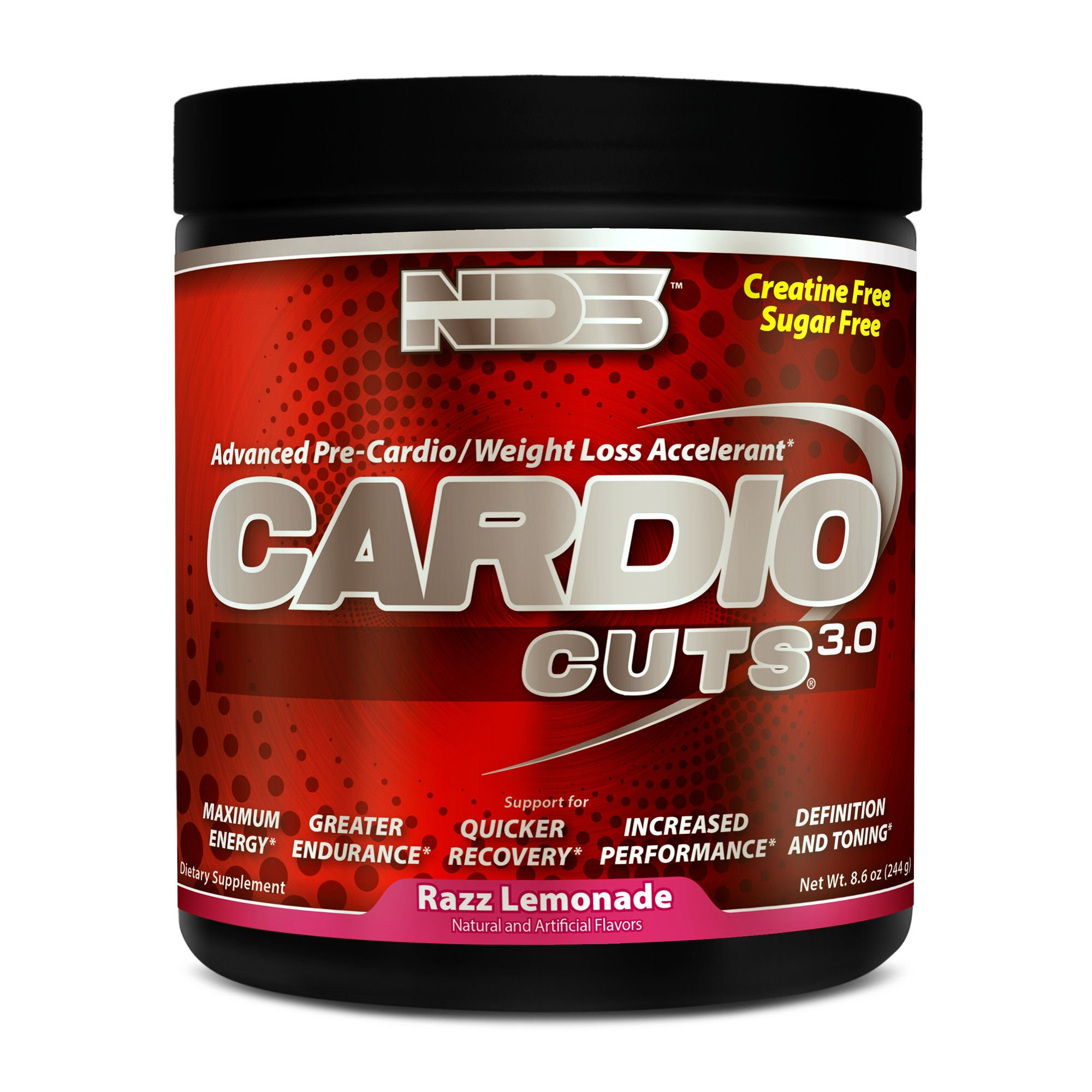 NDS Nutrition Cardio Cuts 3.0 - Advanced Pre-Cardio And Weight Loss Formula WIth L-Carnitine - Maximum Energy, Greater Endurance, Faster Recovery, Increased Performance - Razz Lemonade - 40 Servings …