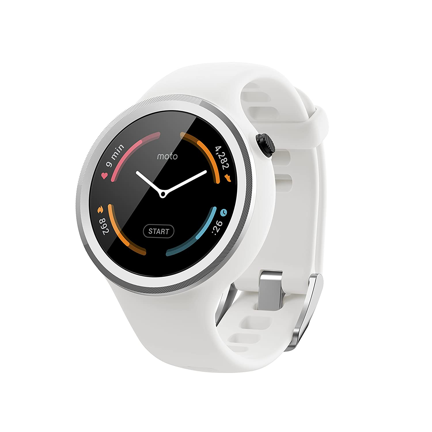 motorola 360 sport. amazon.com: motorola moto 360 sport - 45mm, white: cell phones \u0026 accessories o