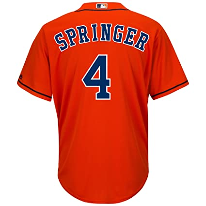 Majestic Athletic Houston Astros George Springer 2015 Cool Base Alternate  Jersey 34c8f782a