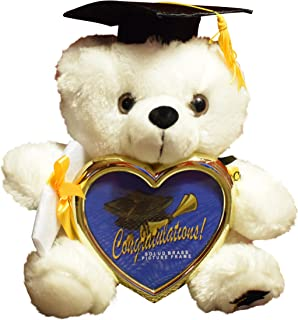 8 graduation plush teddy bear with cap and diploma in hand comes with a