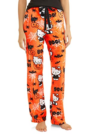 de0eda1d6 Hello Kitty Womens Halloween Minky Fleece Sleep Lounge Pajama Pants (XS (0-2