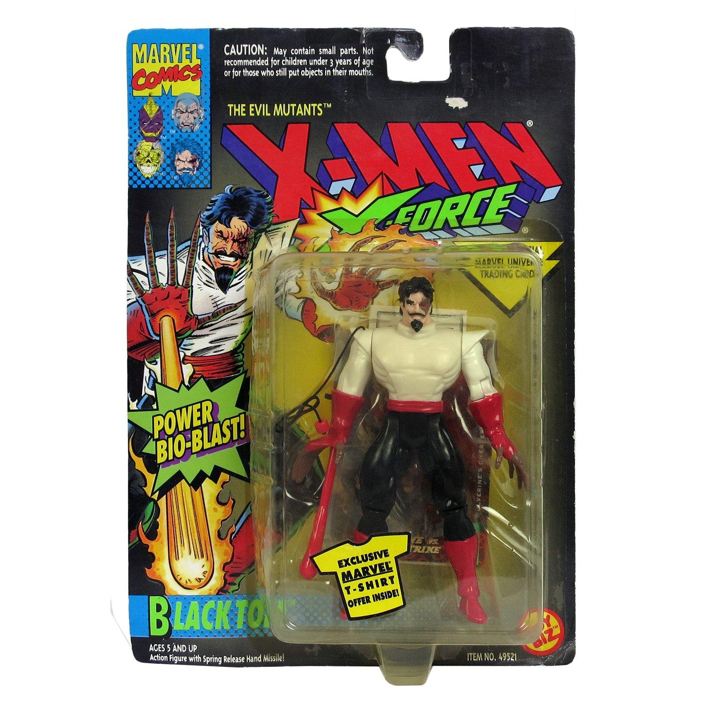 BLACK TOM /& POWER BIO-BLAST X-Men X-Force Action Figure /& Official Marvel Universe Trading Card Toy Biz 49521