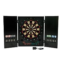 Best Sporting elektronische Dartscheibe Glasgow Dartboard mit 12 Dartpfeilen und Ersatzspitzen, Dartautomat mit LED-Display