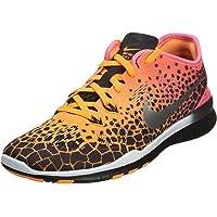 Nike Women's WMNS Free 5.0 TR Fit 5 PRT, Black/Metallic Silver-Pink POW-Bright Citrus