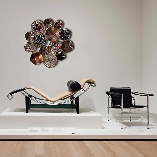 Decorlives Large Multi Color Multi Shape Circles Metal Wall Sculpture Art Wall Hanging D cor