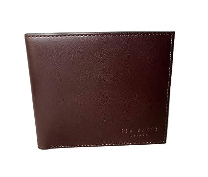 TED Baker Billetera Plegable de Piel con diseño de Chocolate ...