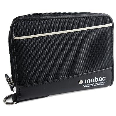 580fa8d69579 [モバック] mobac 財布 二つ折り財布 メンズ ラウンドファスナー モバックアクティブ (ブラック