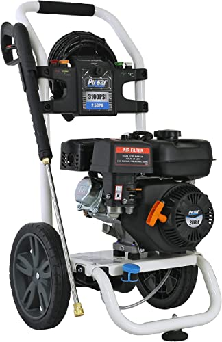 Pulsar 3,100 PSI 2.5 GPM Gas-Powered Pressure Washer with 5 Quick Connect Nozzles On-Board Detergent Tank, W31H19