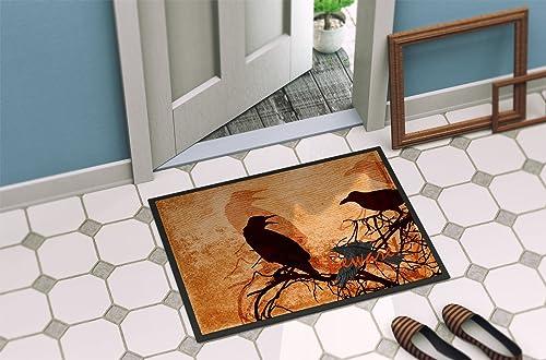 Caroline s Treasures SB3009MAT Beware of The Black Crows Halloween Indoor or Outdoor Mat 18×27 Doormat, 18H X 27W, Multicolor