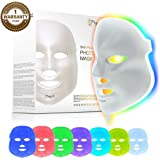Project E Beauty Skin Rejuvenation Photon Mask | 7 Color LED Photon Light Therapy Treatment Whitening Anti-aging Acne Spot Scar Removal Smooth Wrinkles Fine Lines Skin Tightening Facial Beauty Daily Skin Care