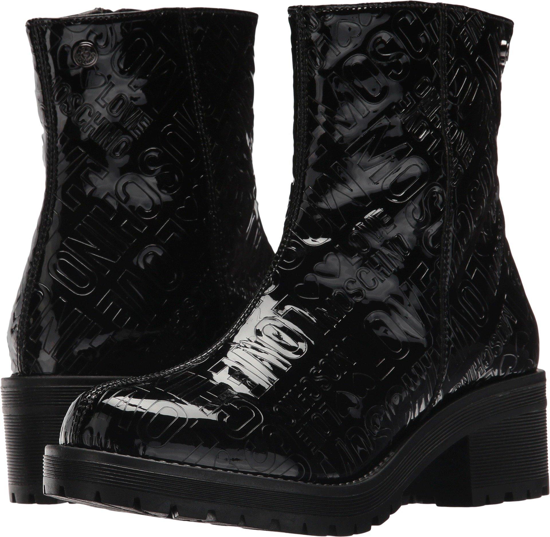 LOVE Moschino Women's Short Rain Boots Black 38 M EU