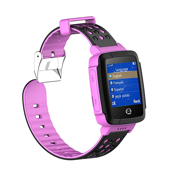 Reloj inteligente Tencent QQ, con GPS, impermeable IP65, seguro, para niños, con cámara, SIM, llamadas de voz