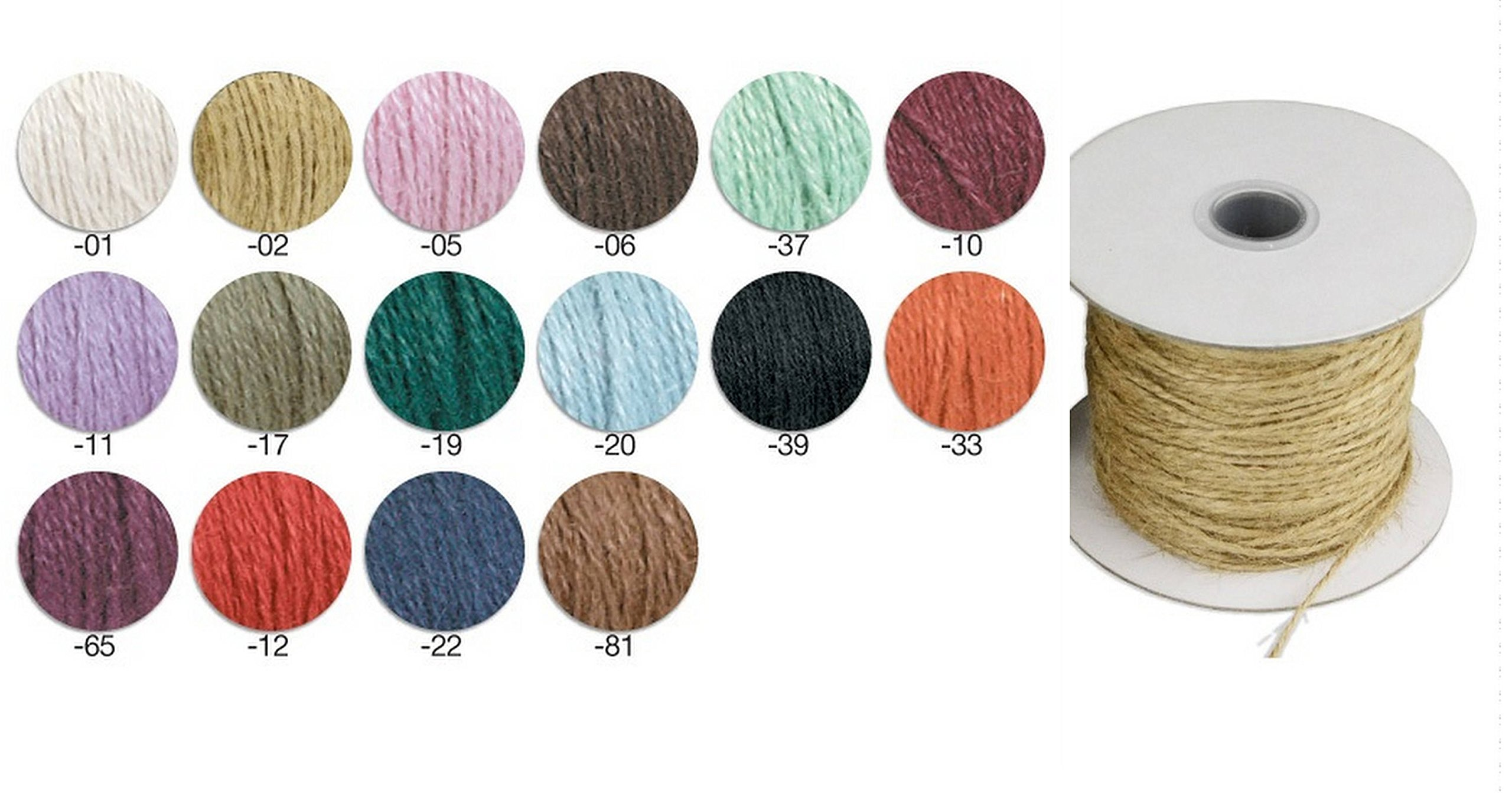 PoshNPretty Natural Burlap Jute twine Cord - 1/16-Inch 1.5mm x 100 yards - Choose Color (Black)