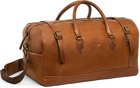 Shopper Umh/ängetasche Henkeltasche Vintage Look Kalbsleder Cognac TALENT D/ürer Damen Handtasche