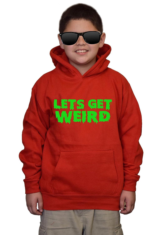 Youth Lets get Weird V366 Red kids Sweatshirt Hoodie