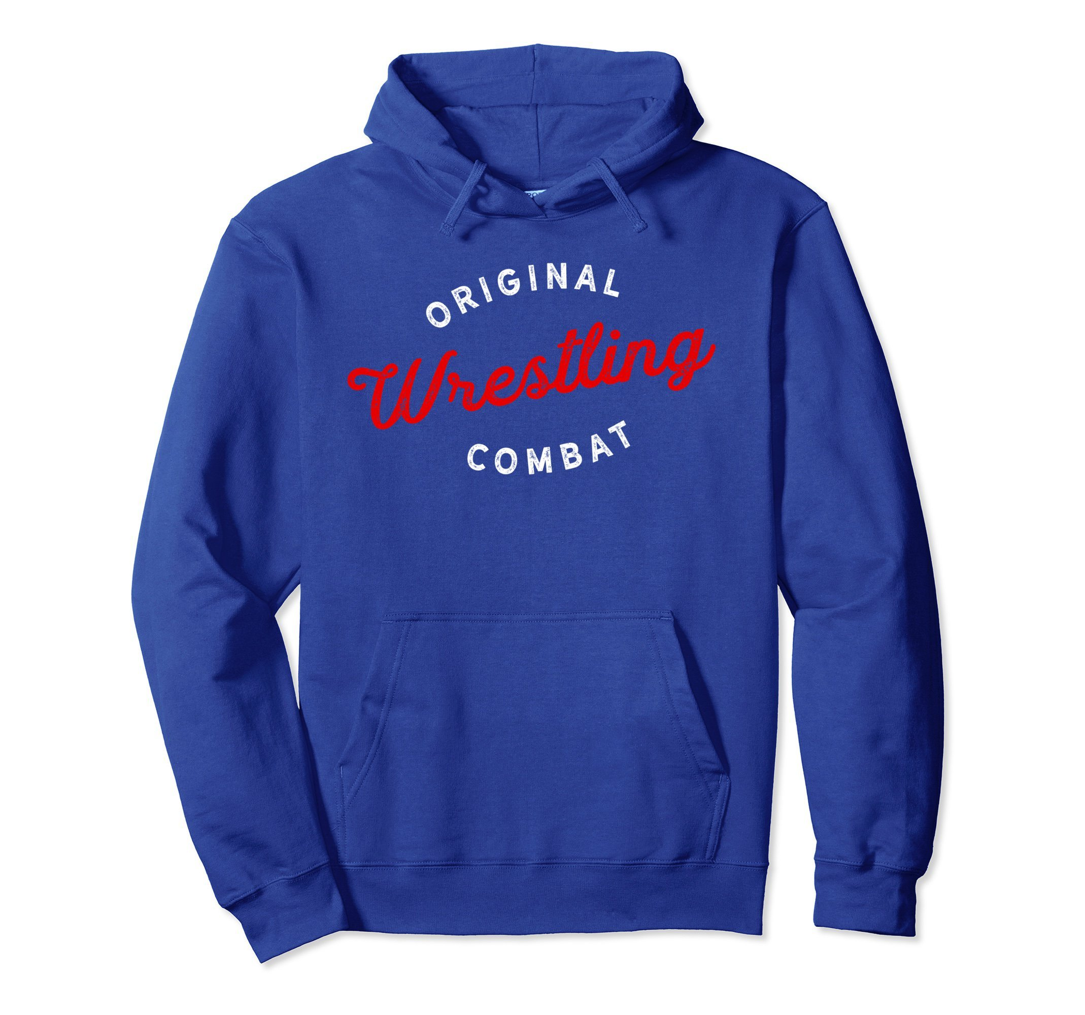 Unisex Original Combat Wrestling Hoodie for Wrestlers, Gift, Red XL: Royal Blue