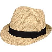 Maylisacc Sombrero Fedora Paja Hombre Transpirable, Sombreros Panama Mujer Verano Plegable Sombrero Trilby Paja para…