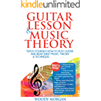 Guitar Lessons & Music Theory : Teach Yourself How to Play Guitar and Read Sheet Music, Theory & Technique. book cover