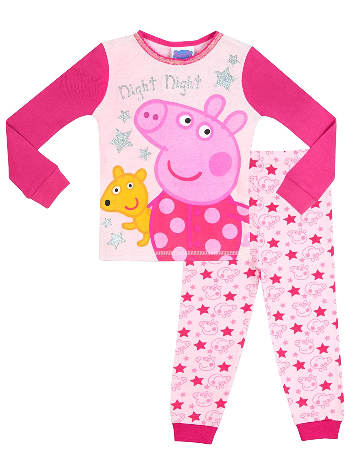 Peppa Pig Girls' Peppa Pig Night Night Pajamas