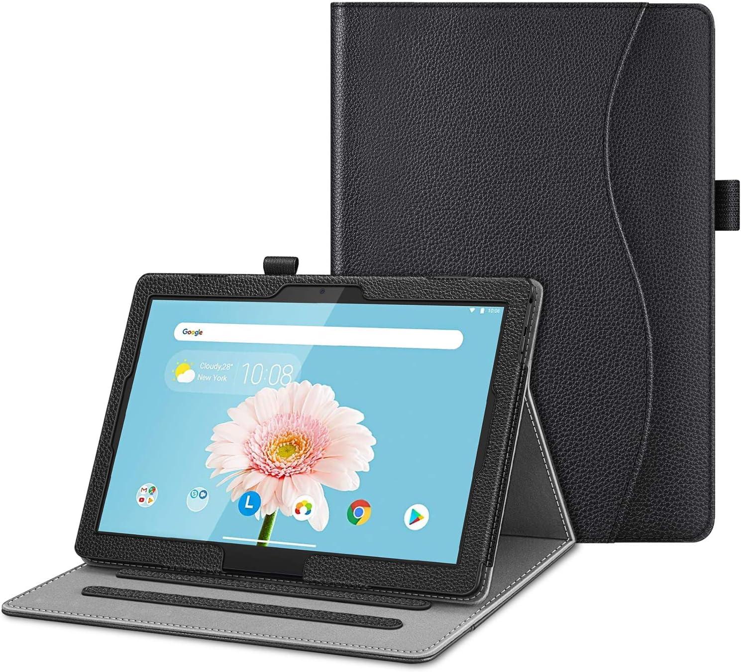 "Fintie Case for Lenovo Smart Tab M10 HD / P10 / M10, Multi-Angle Viewing Folio Cover w/Pocket, Auto Wake/Sleep for Lenovo Tab M10 HD TB-X505F/P10 TB-X705F TB-X705L / M10 TB-X605F 10.1"" Tablet, Black"