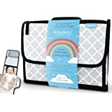 Portable Nappy Changing Mat by BabyBesty Australia. Waterproof Travel Changing Pad, Pockets for Nappy and Wipes, Baby Changing Pad, New Mum Gift, Baby Registry Must Haves