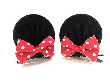 Amazon.com  MeeTHan Mickey Mouse Ears Baby Elastic Headband Hair ... 72139d4ef40
