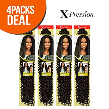 Outre Synthetic Hair Crochet Braids X Pression Braid Kinky Curl 24 4 Pack 1