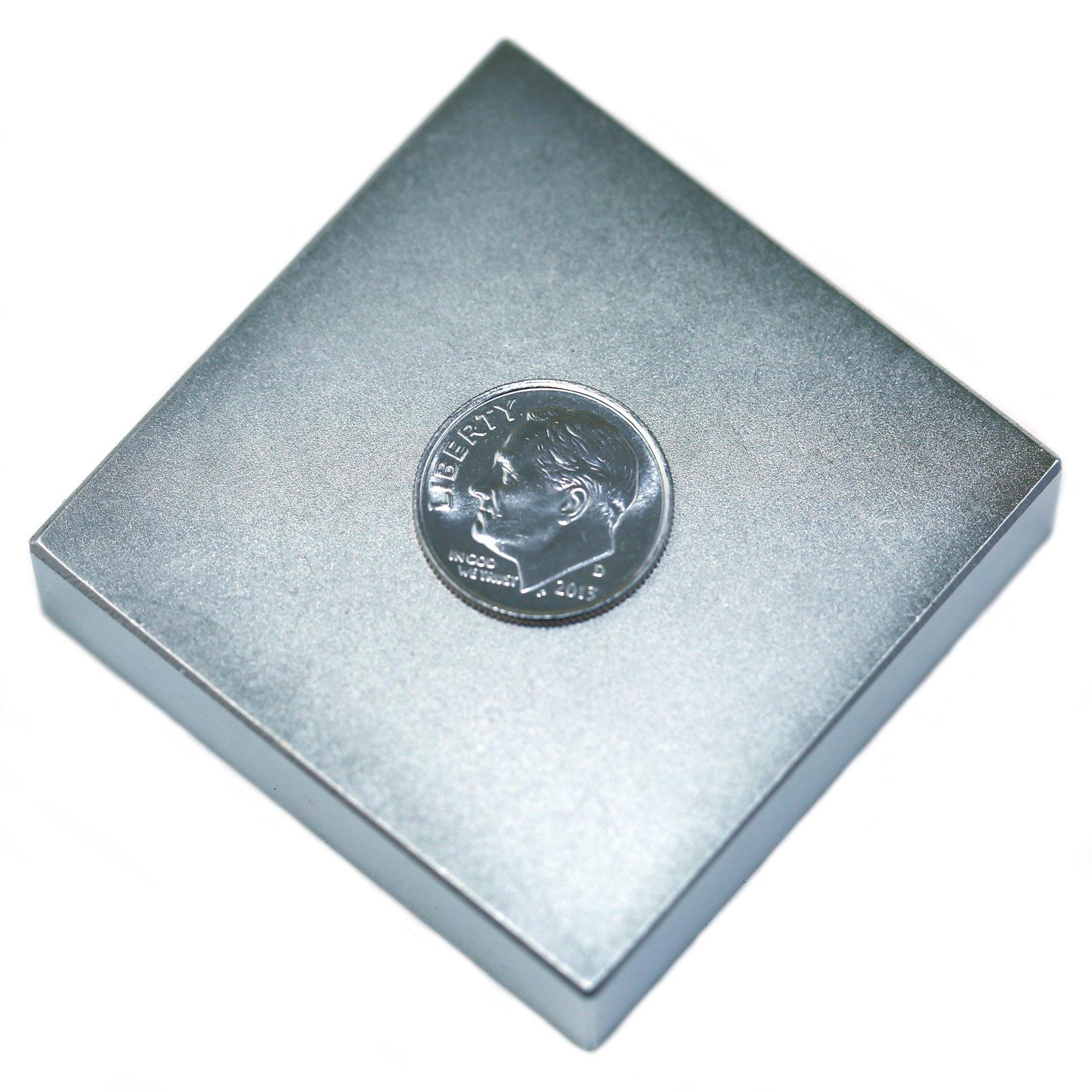 Applied Magnets 2'' x 2'' x 1/2'' N42 Neodymium Block Magnet
