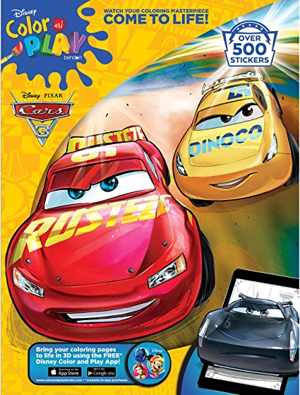 Amazon.com: Disney Bendon Cars 3 32-Page Giant Sticker Activity Book  (73235): Toys & Games