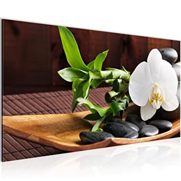Amazon.de: Bilder Feng Shui Orchidee Wandbild Vlies - Leinwand Bild ...