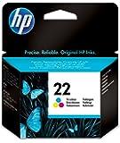 HP 22 Cartouche d'Encre Trois Couleurs (Cartouche Cyan, Magenta, Jaune) Authentique (C9352AE)