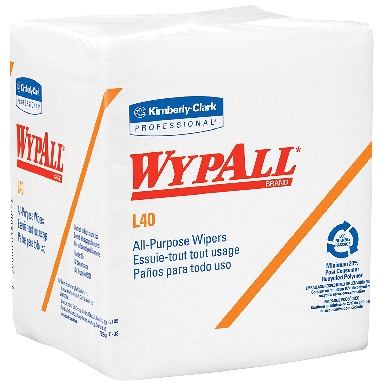 WypAll 7471 L40 Wipers, White, One Ply Sheets, 18 Packs x 56 Folded Kimberly-Clark Professional (EU) 5701