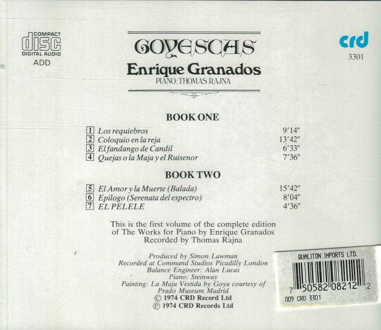 Enrique Granados, Thomas Rajna, Piano Thomas Rajna - Granados - Goyescas (Los Majos Enamorados) - Amazon.com Music