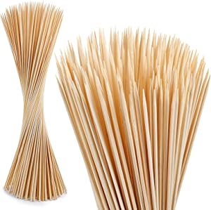 120 PCS Bamboo Marshmallow Roasting Sticks, SMores Skewers for Fire Pit, Extra Long 30 Inch Heavy Duty 5mm Thick Wooden SMores Sticks for Open Fire Pits Roaster Barbecue Hot Dog Camping Kebab Sausage