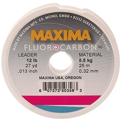 Maxima Fishing Line Leader Wheel, Fluorocarbon, 20-Pound, 27-Yard: Sports & Outdoors
