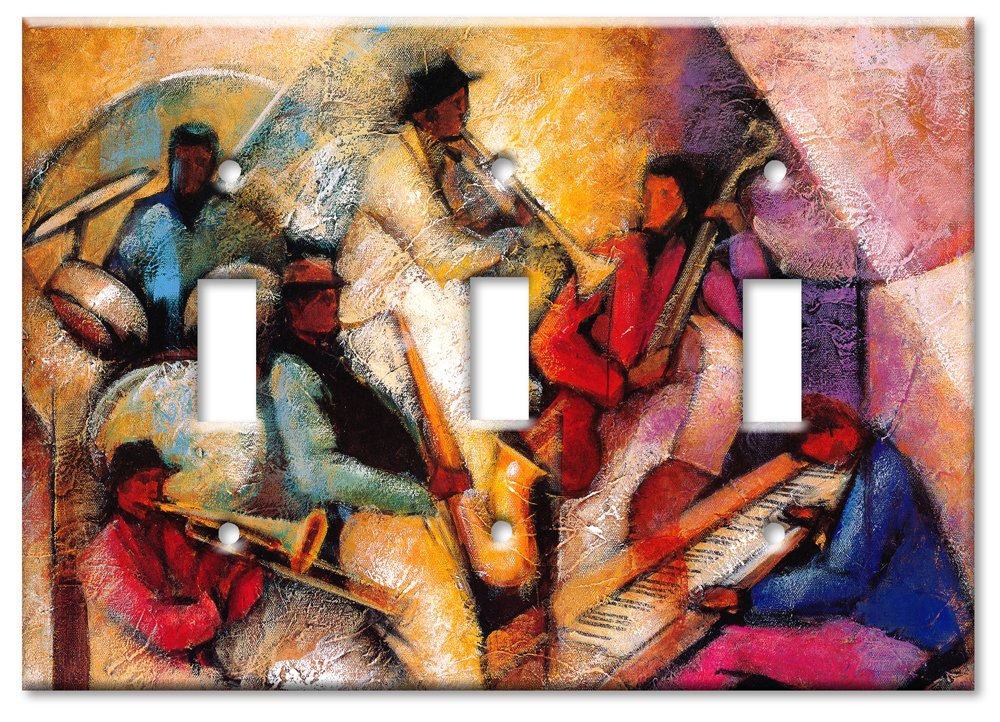 Art Plates - Jam Session Switch Plate - Triple Toggle