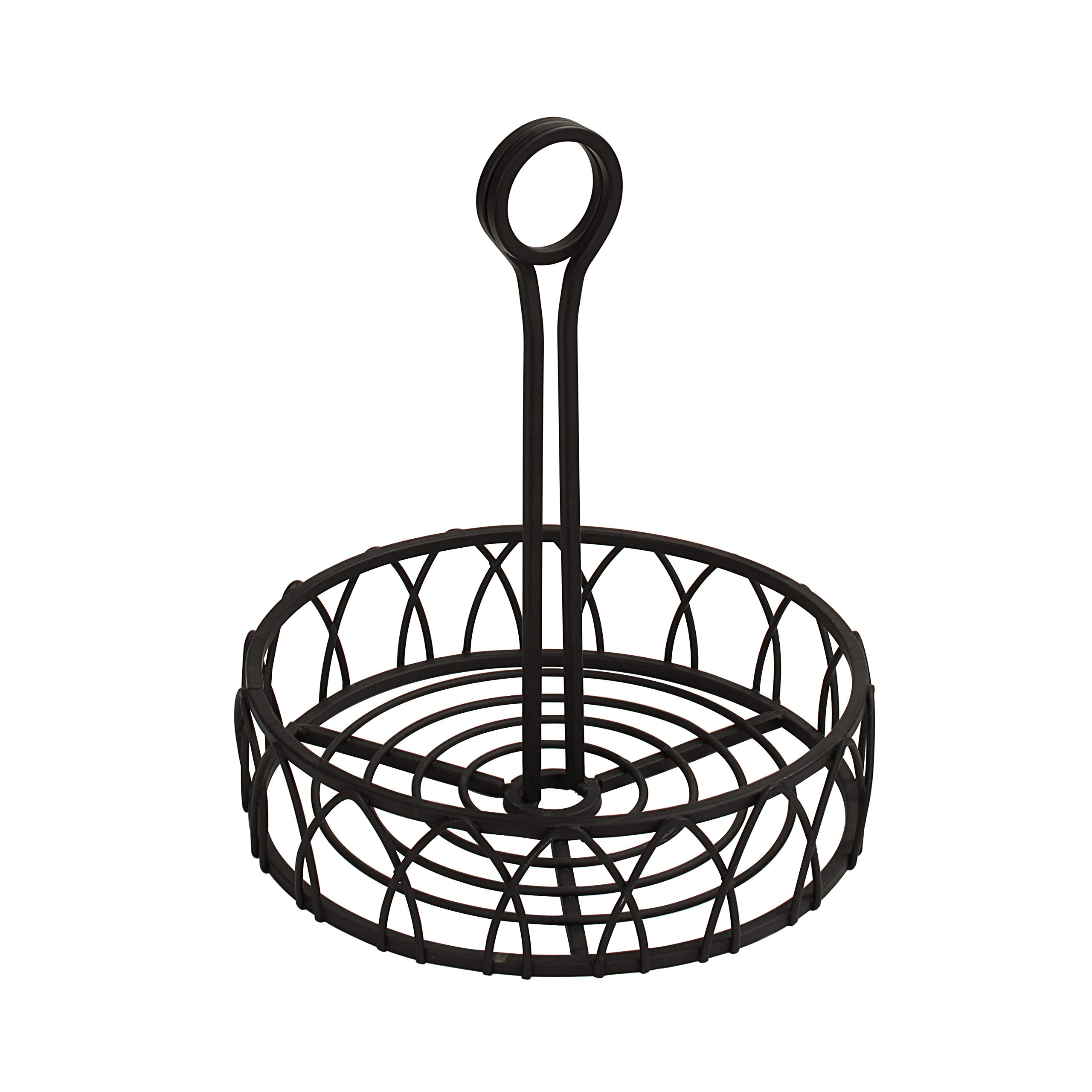 Spectrum Diversified Twist Condiment Stand, Black