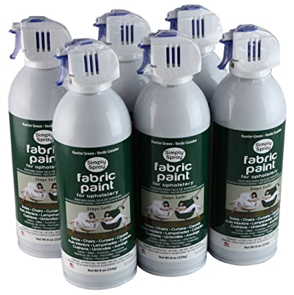 Simply Spray Upholstery Fabric Spray Paint 6 Pack Hunter Green