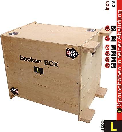 Becker-Sport Germany BECKER BOX L Primero en el mundo ... CAJA 6 en 1 ... (BSG 28954) caja plyo única con 6 alturas de salto: Amazon.es: Deportes y aire libre