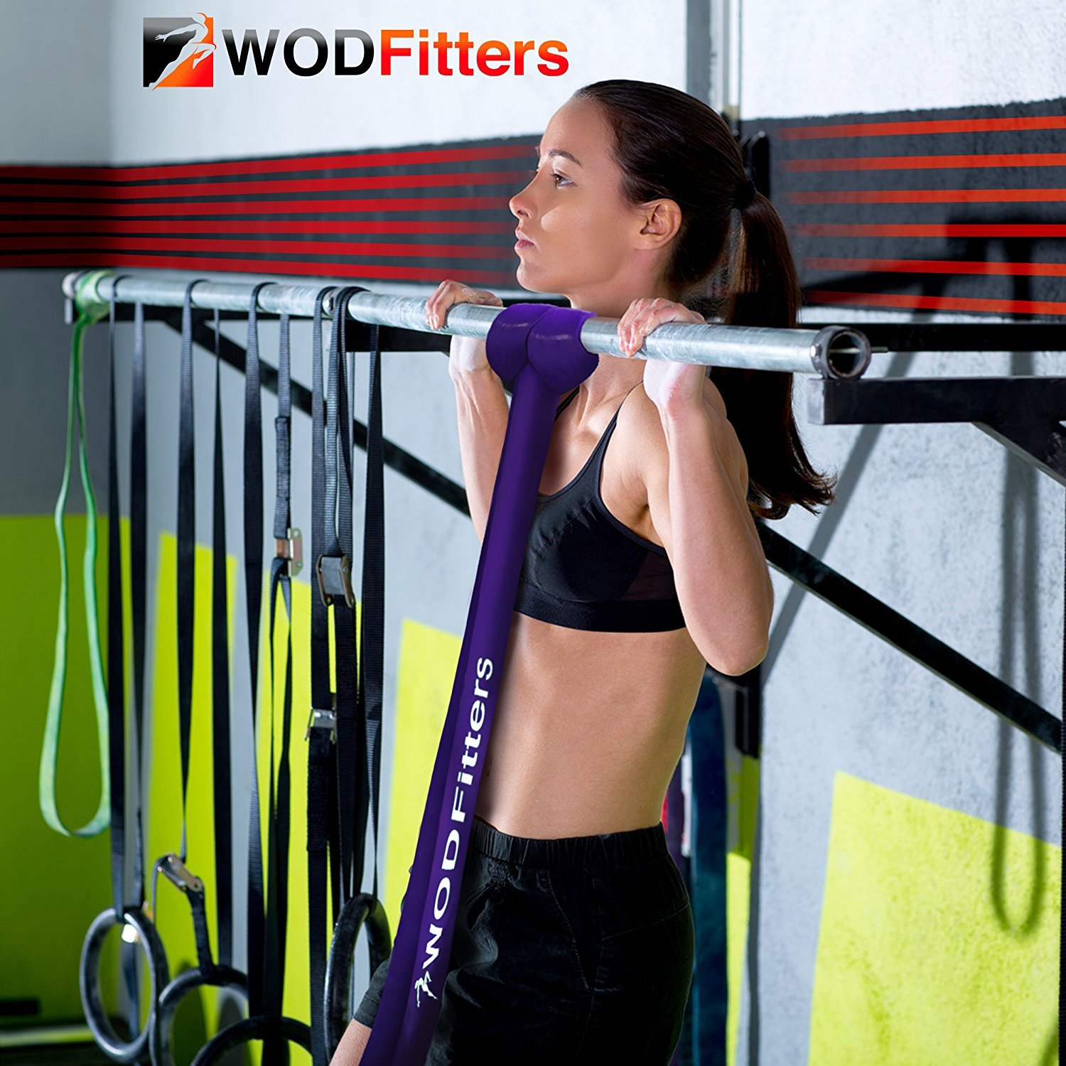 WODFitters Black Band Resistance Bands Black - Single Band Assisted Pull-up Resistance Band Cross Fitness Training Power-Lifting - by WODFitters (Image #10)