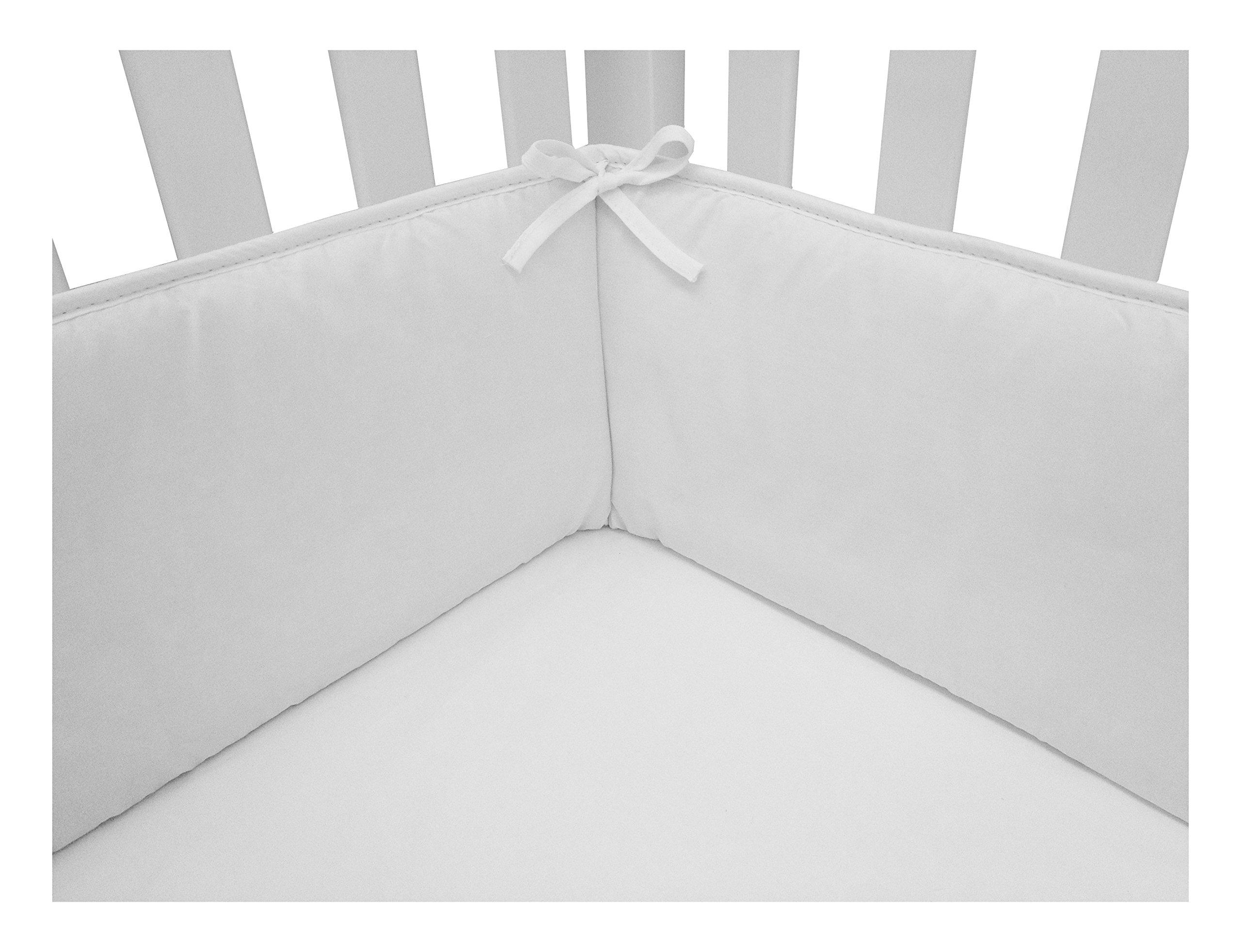 American Baby Company Cotton Percale Crib Bumper, White