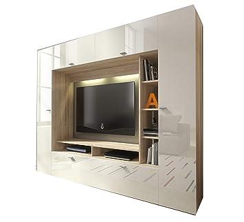 mb-moebel Moderne Wohnwänd Wohnzimmer Möbel Schrankwand mit ...