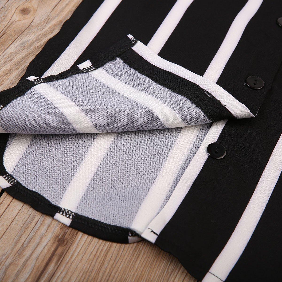 Littler Baby Girl Fashion Black and White Striped Shirt